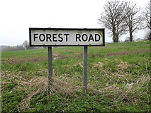 TM0259 : Forest Road sign by Adrian Cable