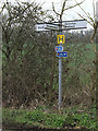 TM0259 : Roadsign on Forest Road by Adrian Cable