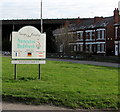 SP3584 : Nuneaton & Bedworth southern boundary sign by Jaggery