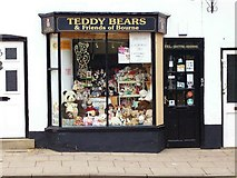 TF0920 : Teddy bear shop at Bourne, Lincolnshire by Rex Needle