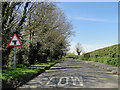 TG4206 : T junction with minor road to the right by Adrian S Pye