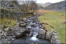 SD2895 : Stream draining through Banishead quarry spoil heaps by David Martin