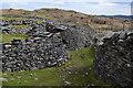 SD2795 : Path between slate spoil, Banishead quarry by David Martin