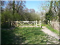 TL1630 : Gateway into Oughtonhead Common Nature Reserve by Humphrey Bolton