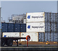 J3475 : Shipping containers, Belfast by Rossographer