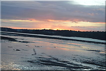 SH5873 : Sunset over The Menai Straits by N Chadwick
