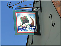 TM3656 : The sign of The Ship by Adrian S Pye