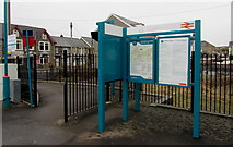 SN6212 : Information boards at Ammanford railway station by Jaggery