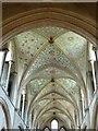 SU9007 : Nave ceiling & clerestory, Boxgrove Priory church by Rob Farrow