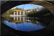 SD4964 : Lune West Bridge under construction by Ian Taylor