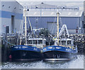 J3476 : Two mussel dredgers at Belfast by Rossographer