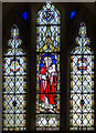 TQ4205 : East window, St Peter's church, Southease by Julian P Guffogg