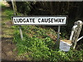 TM1573 : Ludgate Causeway sign by Adrian Cable