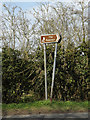 TM1573 : Roadsign on the B1117 Hoxne Road by Adrian Cable