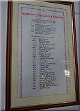 SD3598 : St Michael and All Angels, Hawkshead: incumbency board by Basher Eyre