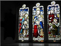 SD3598 : St Michael and All Angels, Hawkshead: stained glass window (IV) by Basher Eyre