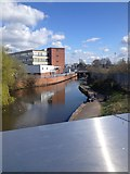 SJ8798 : Canal at National Cycling Centre by Dave Thompson