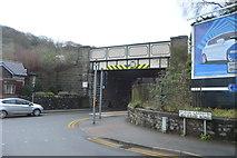 SH5771 : Railbridge, A4087 by N Chadwick