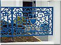 SS4630 : Ornate cast iron fence panel, Odun Road, Appledore by Robin Stott