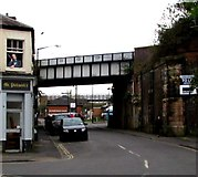 SP3265 : North side of Court Street railway bridge, Royal Leamington Spa by Jaggery