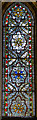 SO5139 : Medieval stained glass window, Hereford Cathedral by Julian P Guffogg