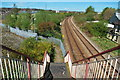 SJ8844 : Footbridge, Hawkins Street, Fenton by Stu JP