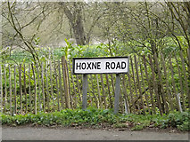 TM1473 : Hoxne Road sign by Adrian Cable
