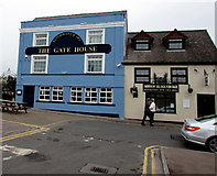 SO5012 : The Gate House and Monnow Bridge Fish Bar, Monmouth by Jaggery