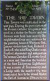 TQ3081 : The Ship Tavern Information Board, Gate Street, London WC1 by Christine Matthews