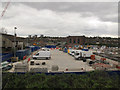 TQ4578 : Parking area at Crossrail, Plumstead site by Stephen Craven