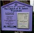 SO5112 : Church of England church board in Wyesham, Wales by Jaggery