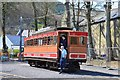 SC4384 : Snaefell Mountain Railway car at Laxey station by Jim Barton
