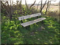 TM3956 : Seat at Iken Cliff Picnic site by Adrian Cable