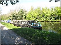 TQ2282 : Merdeka - narrowboat on Paddington Arm, Grand Union Canal by David Hawgood