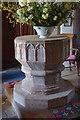 SO5928 : Font, St Mary's church, Foy by Julian P Guffogg