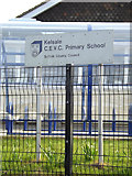 TM3864 : Kelsale C.E.V.C. Primary School sign by Adrian Cable