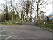 TM3864 : Entrance to Kelsale C.E.V.C. Primary School by Adrian Cable