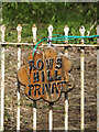 TM2971 : Rows Hill sign by Adrian Cable
