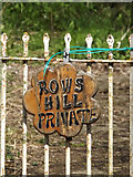 TM2971 : Rows Hill sign by Geographer