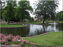 SK0573 : Lake at the Pavilion Gardens, Buxton by Eirian Evans