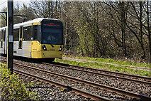 SJ7993 : A metro-link tram city centre bound by Ian Greig