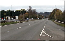 SO5012 : A40 crosses the River Monnow, Monmouth by Jaggery