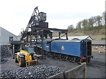 NZ8204 : Sir Nigel Gresley under the coaling stage, Grosmont by Christine Johnstone