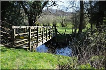 SO2554 : Footbridge over Gladestry Brook by Philip Halling