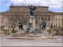 SJ3490 : Monument to the King's Liverpool Regiment, Liverpool in St John's Gardens by David Dixon