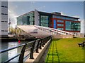 SJ3390 : Pedestrian Bridge over Princes Dock, Liverpool by David Dixon