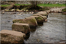 NY1700 : Stepping Stones, River Esk, Cumbria by Peter Trimming