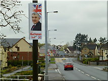 H4672 : Election candidate posters, Omagh (1) by Kenneth  Allen