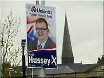 H4572 : Election candidate posters, Omagh (3) by Kenneth  Allen