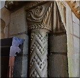 SK8707 : Egleton: St. Edmund's Church: The Norman chancel arch by Michael Garlick